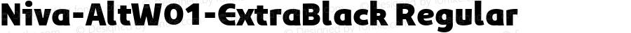 Niva-AltW01-ExtraBlack Regular Version 3.37