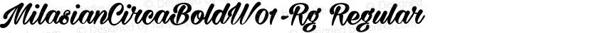 MilasianCircaBoldW01-Rg Regular Preview Image