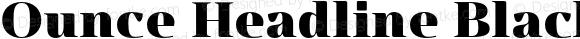 Ounce Headline Black Black
