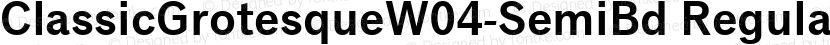 ClassicGrotesqueW04-SemiBd Regular Preview Image