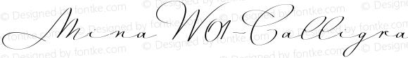 MinaW01-CalligraphicReg Regular Version 1.11