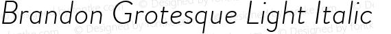Brandon Grotesque Light Italic preview image