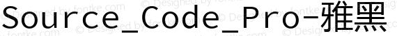 Source_Code_Pro-雅黑 混合体 Regular preview image