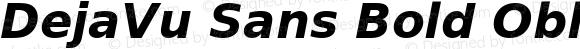 DejaVu Sans Bold Oblique