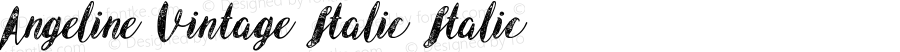 Angeline Vintage Italic Italic Unknown