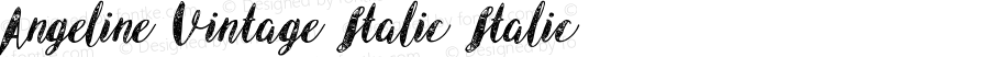 Angeline Vintage Italic Italic Version 1.000;PS 001.001;hotconv 1.0.56