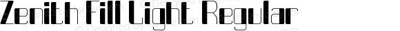 Zenith Fill Light Regular Version 1.00 March 29, 2016, initial release