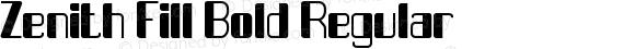 Zenith Fill Bold Regular Version 1.00 March 29, 2016, initial release