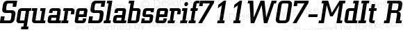 SquareSlabserif711W07-MdIt Regular