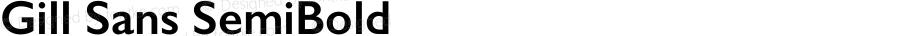 Gill Sans SemiBold 9.0d5e1