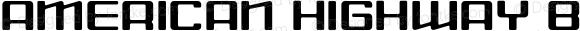 American Highway Bold Macromedia Fontographer 4.1.3 7/11/01