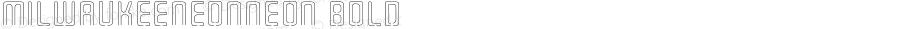 MilwaukeeNeonNeon Bold Macromedia Fontographer 4.1.3 9/4/02