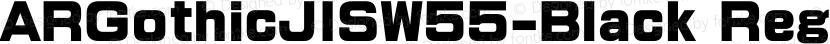 ARGothicJISW55-Black Regular Preview Image
