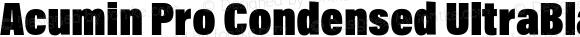 Acumin Pro Condensed UltraBlack