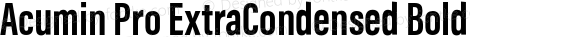 Acumin Pro ExtraCondensed Bold