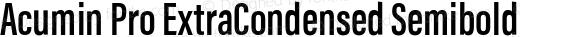 Acumin Pro ExtraCondensed Semibold
