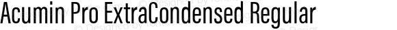 Acumin Pro ExtraCondensed Regular
