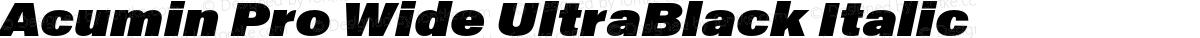 Acumin Pro Wide UltraBlack Italic