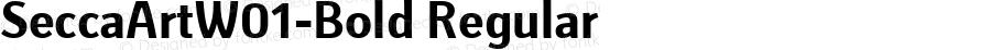 SeccaArtW01-Bold Regular Version 1.40