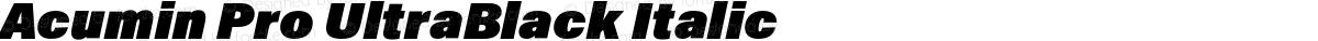 Acumin Pro UltraBlack Italic