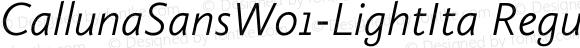 CallunaSansW01-LightIta Regular Version 1.1