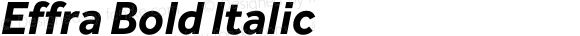 Effra Bold Italic Version 1.010