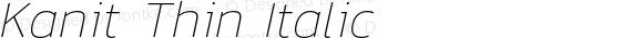 Kanit Thin Italic