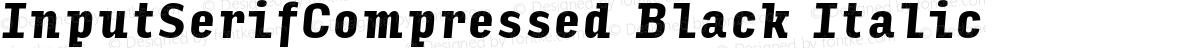 InputSerifCompressed Black Italic
