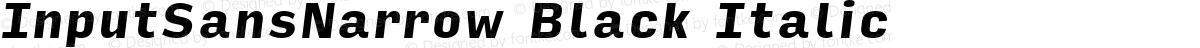InputSansNarrow Black Italic