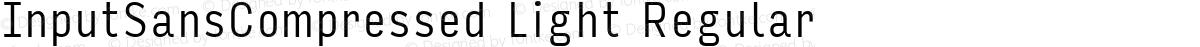 InputSansCompressed Light Regular