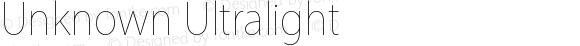 Unknown Ultralight