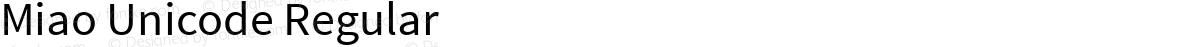 Miao Unicode Regular