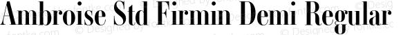 Ambroise Std Firmin Demi Regular Version 1.000