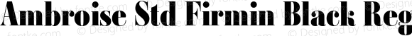 Ambroise Std Firmin Black Regular Version 1.000
