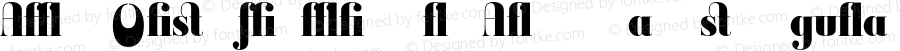 Ambroise Firmin Blk Alternates Regular 001.000