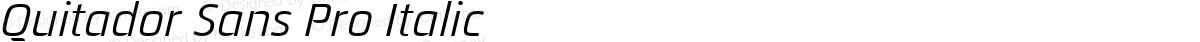 Quitador Sans Pro Italic