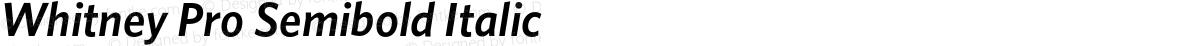 Whitney Pro Semibold Italic