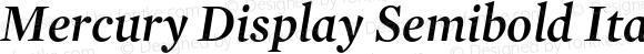Mercury Display Semibold Italic