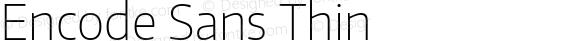 Encode Sans Thin