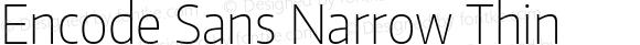 Encode Sans Narrow Thin