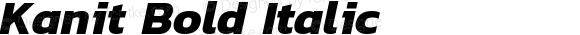 Kanit Bold Italic