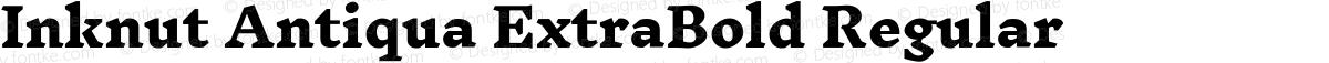 Inknut Antiqua ExtraBold Regular