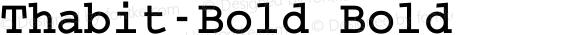 Thabit-Bold Bold