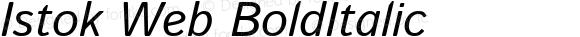 Istok Web BoldItalic
