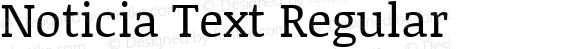 Noticia Text Regular Version 1.003