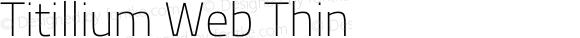 Titillium Web Thin