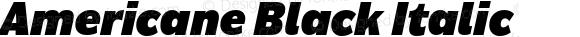 Americane Black Italic Version 1.000;