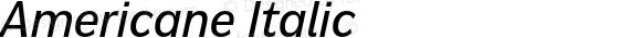 Americane Italic Version 1.000;