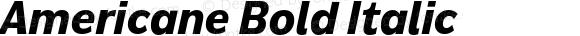 Americane Bold Italic Version 1.000;