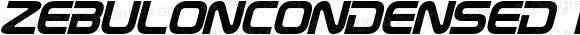 ZebulonCondensed Italic Version 1.20 April 26, 2016
